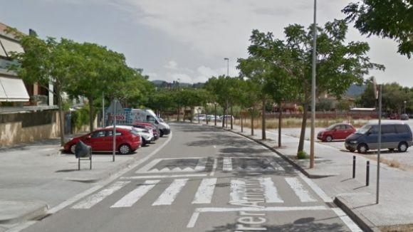 Afectacions al carrer d'Ignasi Barraquer per la instal·lació de balises led als pasos de vianants