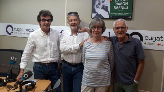 Roser Casamitjana amb Toni Samsó, Àlvar Roda i Rogeli Pedró / Foto: Cugat Mèdia
