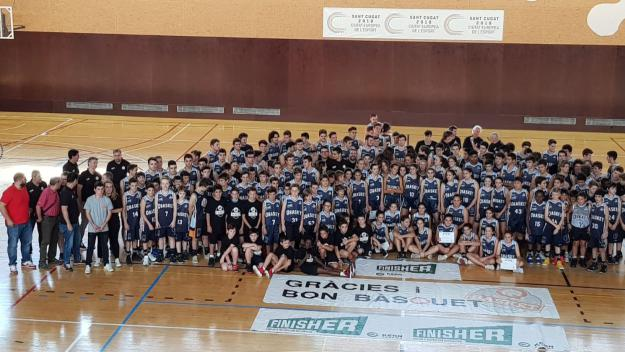 Imatge de la presentació dels equips de la temporada passada / Font: Qbasket Sant Cugat