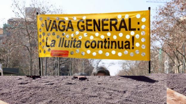 Imatge d'arxiu de la vaga general del 21-F / Foto: ACN