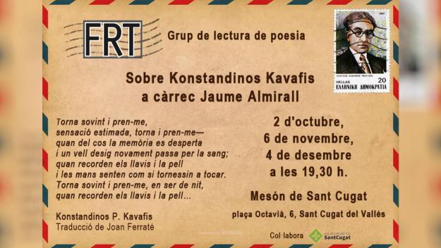 Festival de Poesia: Grup de lectura de poesia: Konstandinos Kavafis