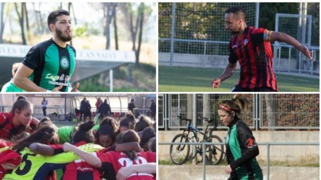 Partit de futbol mixt entre el Sant Cugat FC i el CFU Mira-sol Baco contra la violència masclista