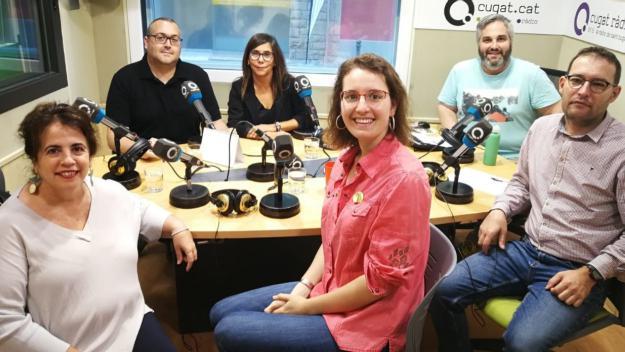 Representants dels 5 partits amb presència a l'Ajuntament / Foto: Cugat Mèdia