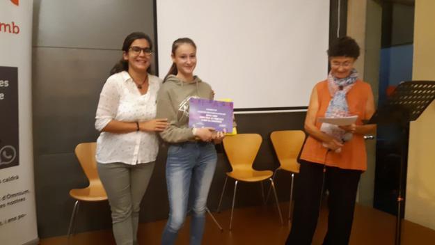 Imatge de l'entrega del premi / Foto: Cugat Mèdia