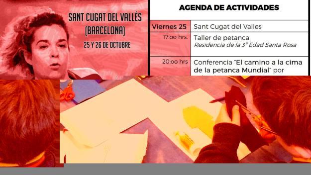 Cartell promocional de la visita de Yolanda Matarranz / Font: Club Petanca Sant Cugat