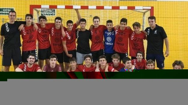 El cadet A de l'Handbol Sant Cugat / Font: Hanbdol Sant Cugat