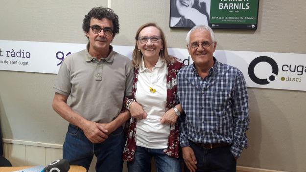 Montse Moral, amb Toni Samsó i Rogeli Pedró / Foto: Cugat Mèdia