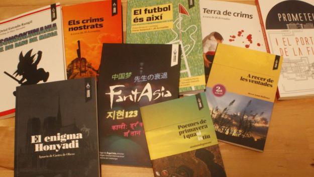 Alguns dels llibres editats per Edicions Xandri / Foto: Cedida