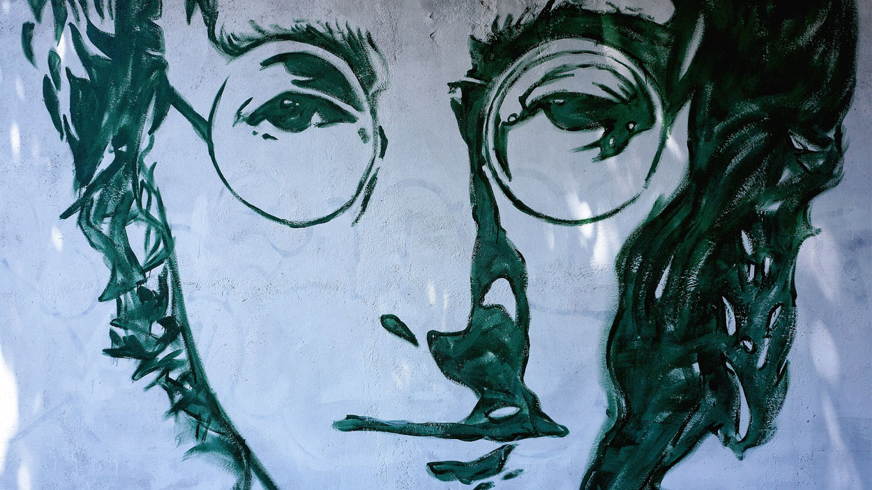 John Lennon en un grafiti / Font:CC-By Pixabay