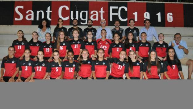 Plantilla del SantCu femení / Font: Sant Cugat Futbol Club