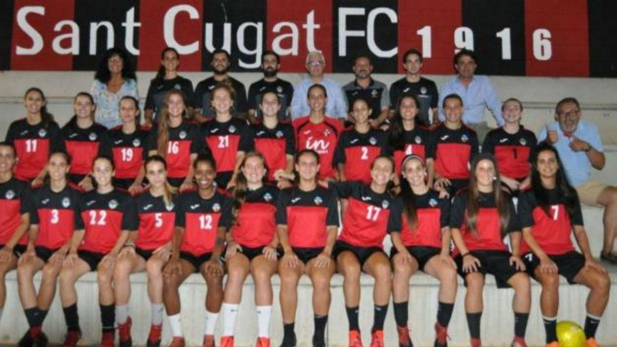 Plantilla del Sant Cugat femení / Font: Sant Cugat Futbol Club