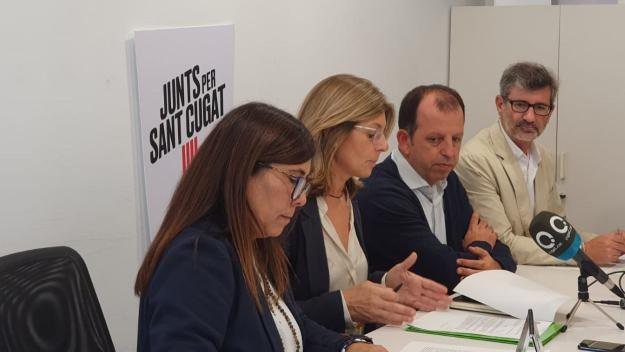 Imatge d'arxiu de regidors de Junts per Sant Cugat / Foto: Junts per Sant Cugat