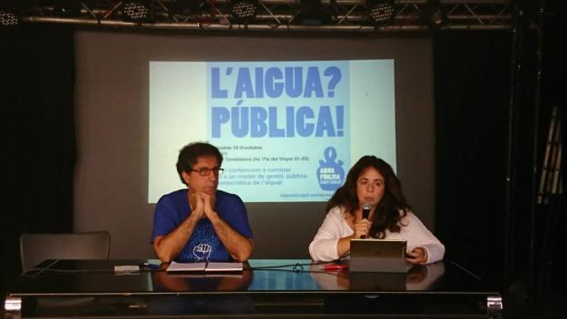 Lourdes Llorente intervenint a la jornada d'Aigua Pública Sant Cugat / Autor: Cugat Mèdia