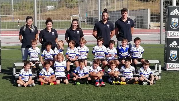 Equip sub 6 del Club Rugby Sant Cugat / Font: Cugat Mèdia