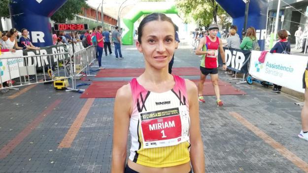 Míriam Ortiz guanya el Campionat de Catalunya de 10 quilòmetres a Sant Cugat / Font: Cugat Mèdia
