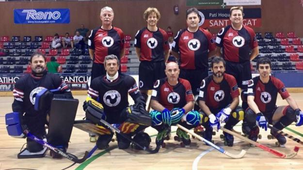 A la segona fila d'esquerra a dreta, Raimon Casas és el segon / Font: Patí Hoquei Club Sant Cugat