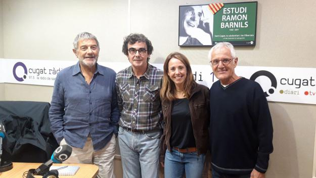 Mònica Lablanca amb l'equip del programa / Foto: Cugat Mèdia