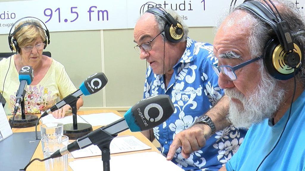 Moment de la gravació de radioteatre / Foto: Cugat Mèdia
