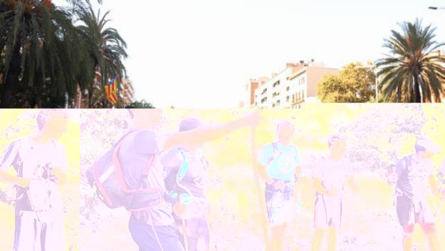 Presència santcugatenca a la manifestació del 26-O a Barcelona