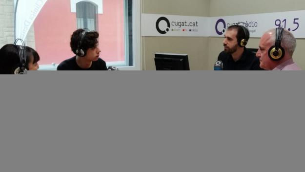 Maria Bañeras, Jan Antem i Lluís Cabal a l'estudi de Ràdio Sant Cugat / Foto: Cugat Mèdia