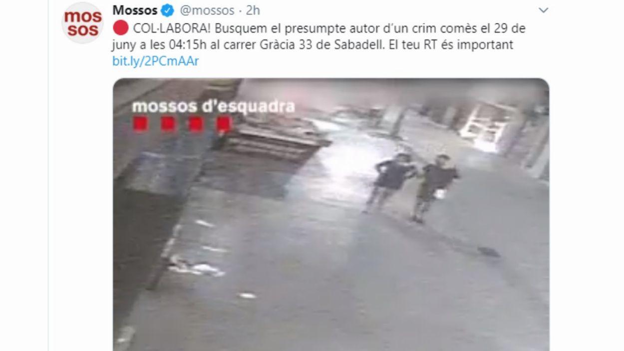 Els Mossos demanen la col·laboració ciutadana per resoldre un crim