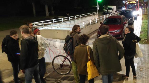 Tercer tall de trànsit consecutiu convocat pel CDR / Foto: Cugat Mèdia