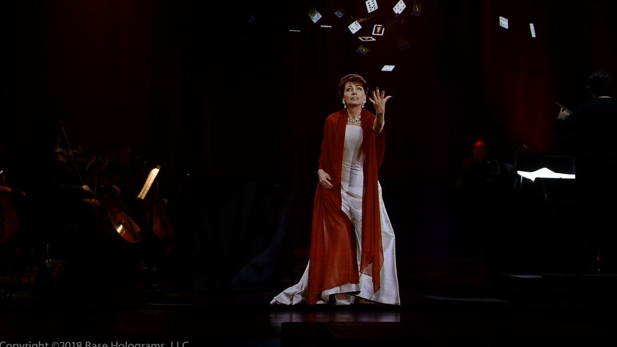 La soprano Maria Callas retorna a l'escenari en holograma / Foto: Base Holograms