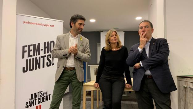 D'esquerra a dreta: Jordi puigneró, Carmela Fortuny i Jaume Alonso-Cuevillas / Foto: Cugat Mèdia