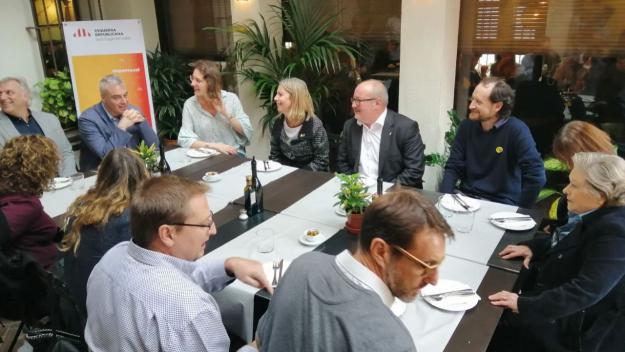 Joan Capdevila s'ha reunit amb empresaris i autònoms / Foto: Cugat Mèdia