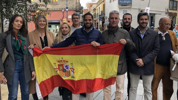 Ignacio Garriga, candidat de VOX per Barcelona, ha visitat Sant Cugat / Foto: Cugat Mèdia