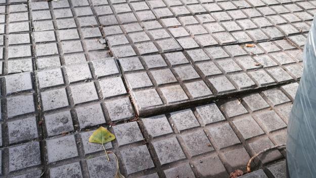 Detall del paviment de la rambla del Torrent d'en Xandri / Foto: María Ángeles Vilches
