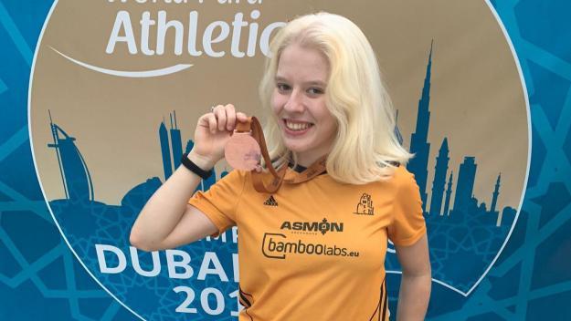 Meritxell Playà ha guanyat la medalla de bronze al Mundial de Dubai / Font: Meritxell Playà