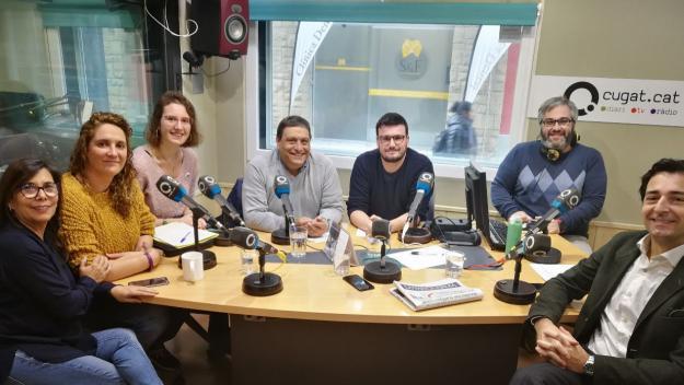 Els representants polítics de Sant Cugat que han participat en la tertúlia / Foto: Cugat Mèdia