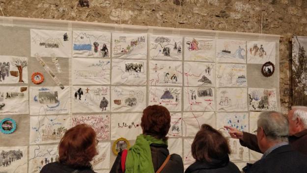 L'exposició es pot veure al vestíbul del Museu / Foto: Cugat Mèdia