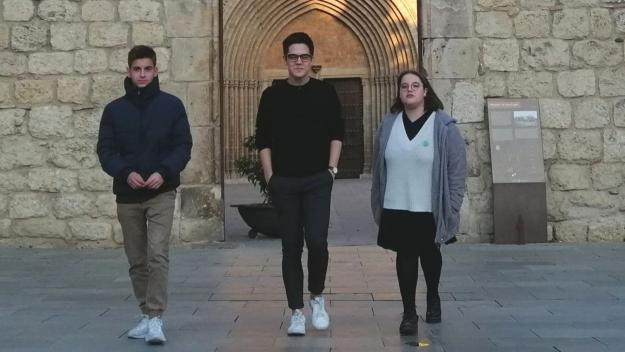 David Garcia (Pureza de Maria), Àlex Torras (Joventuts PSC), Dunia Madhoun (Fridays For Future)