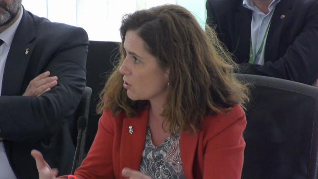 Imatge d'arxiu de Munia Fernández-Jordan, al ple / Foto: Cugat Mèdia