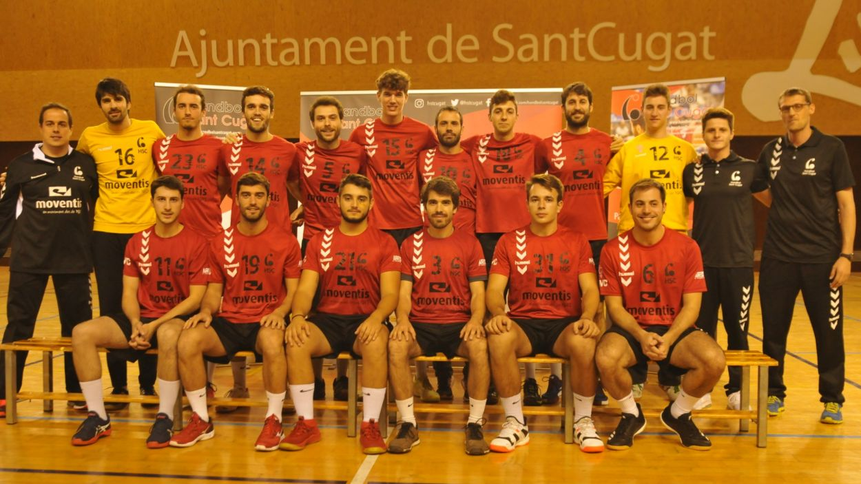 Plantilla de l'Handbol Sant Cugat / Font. Handbol Sant Cugat