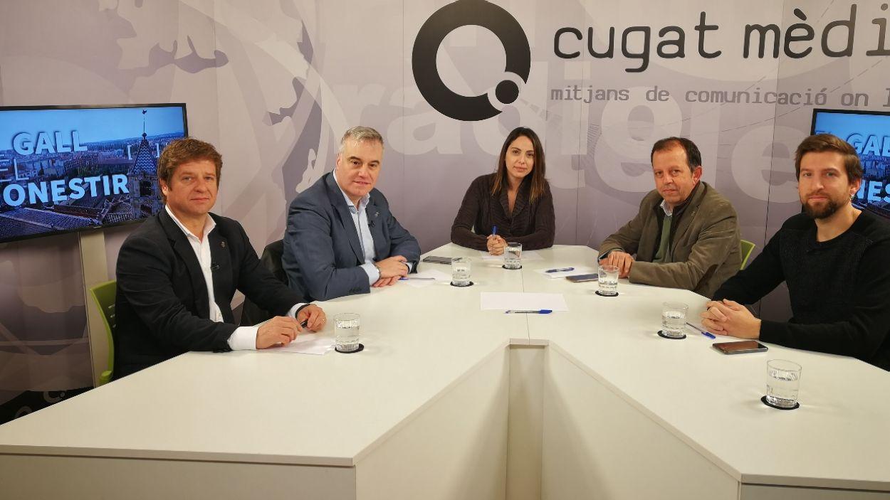 Els partits polítics debaten a Cugat Mèdia sobre el tribut metropolità