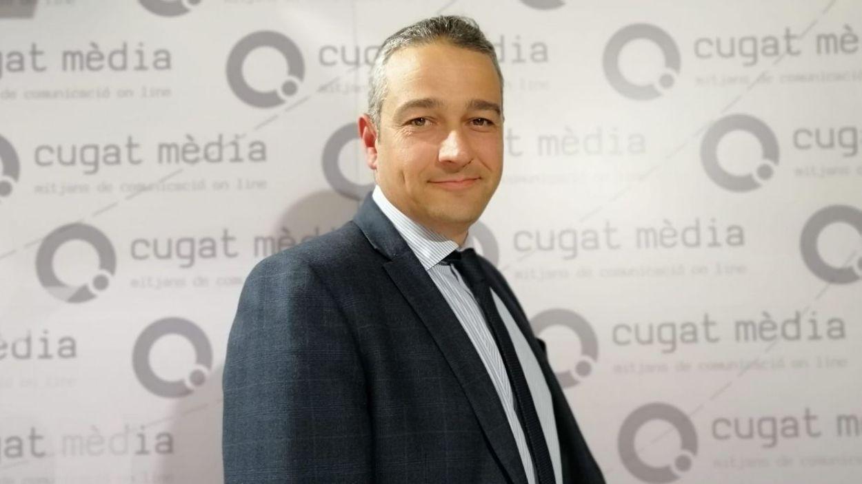 Christopher Dottie ha visitat les instal·lacions de Cugat Mèdia / Foto: Cugat Mèdia