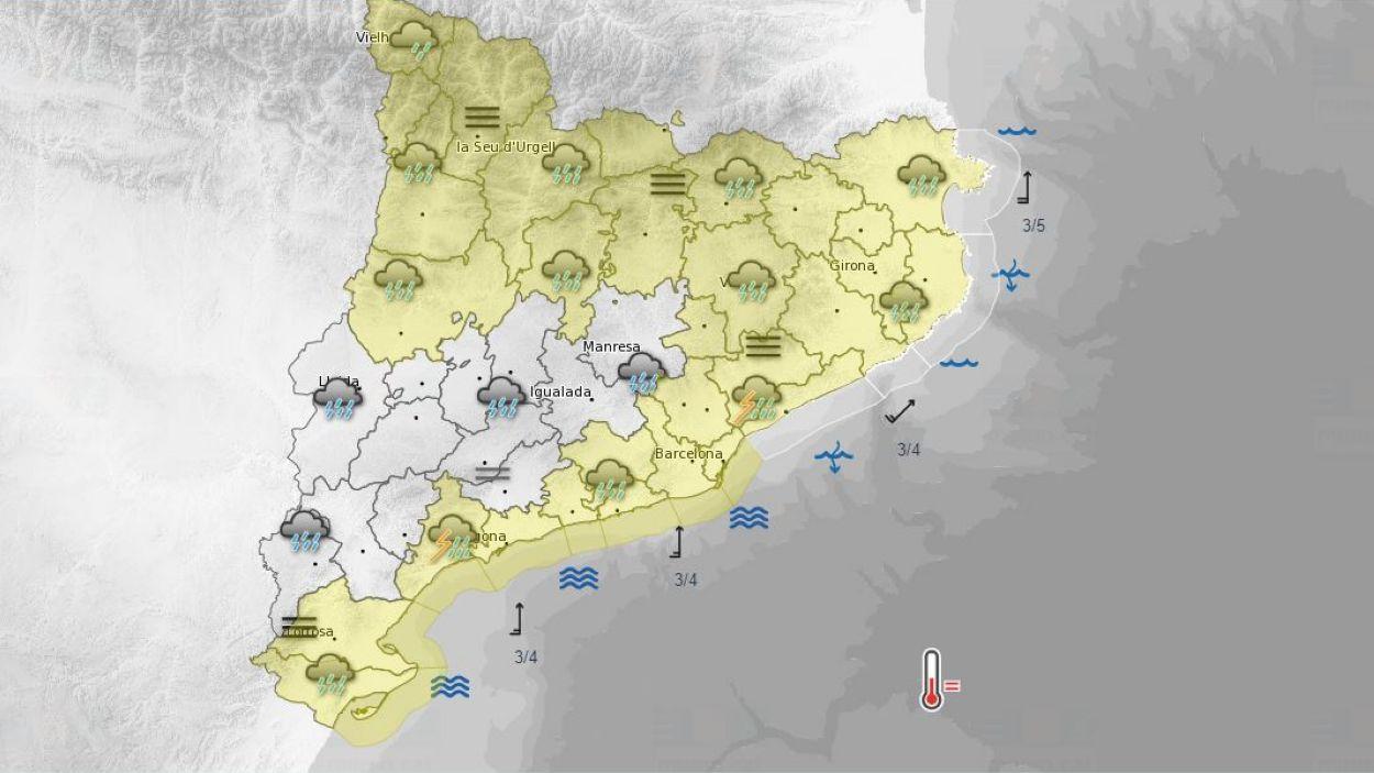 Les ratxes de vent poden afectar tot el territori / Foto: Meteocat