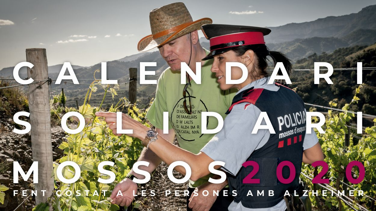 La portada del calendari / Foto: Mossos d'Esquadra