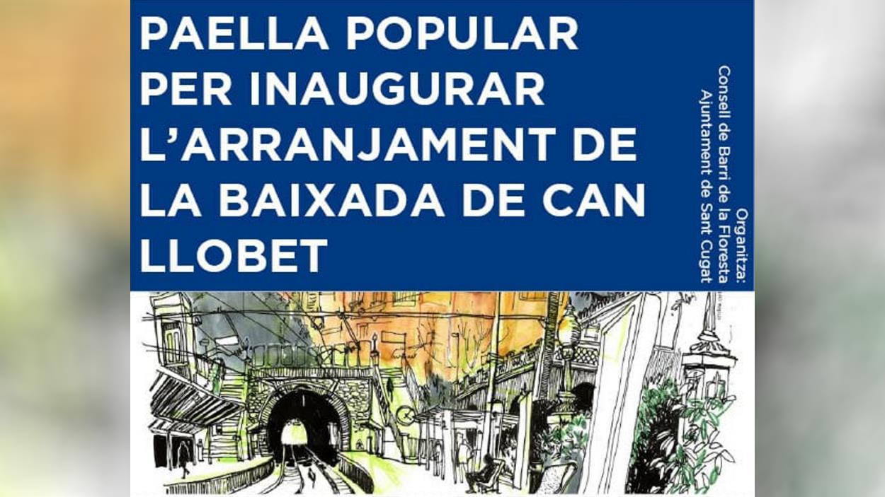 Paella popular per inaugurar l'arranjament de la Baixada de Can Llobet