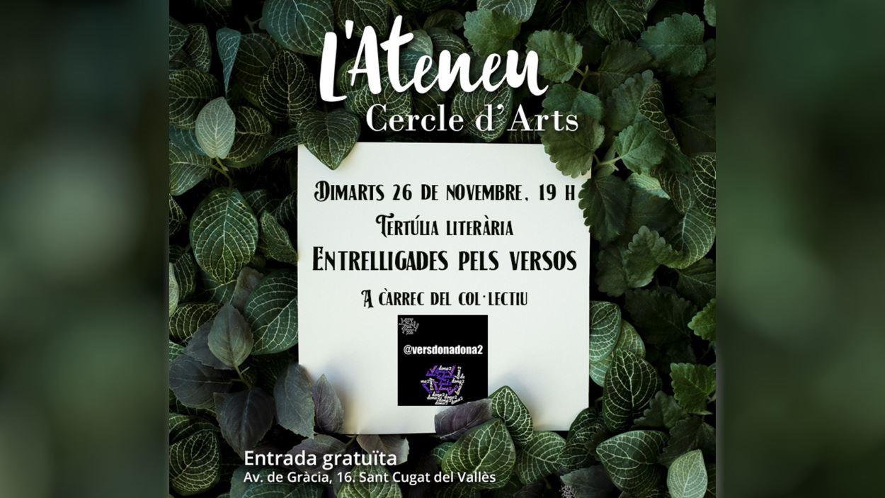Cercle d'Arts Tertúlies literàries: 'Entrelligades pels versos'