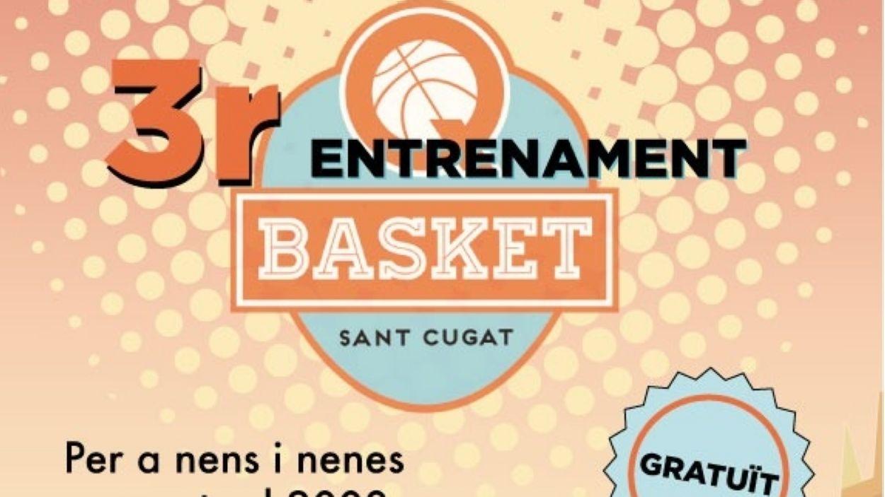 Cartell promocional de la sessió d'entrenament del Qbasket Sant Cugat / Font: Qbasket Sant Cugat