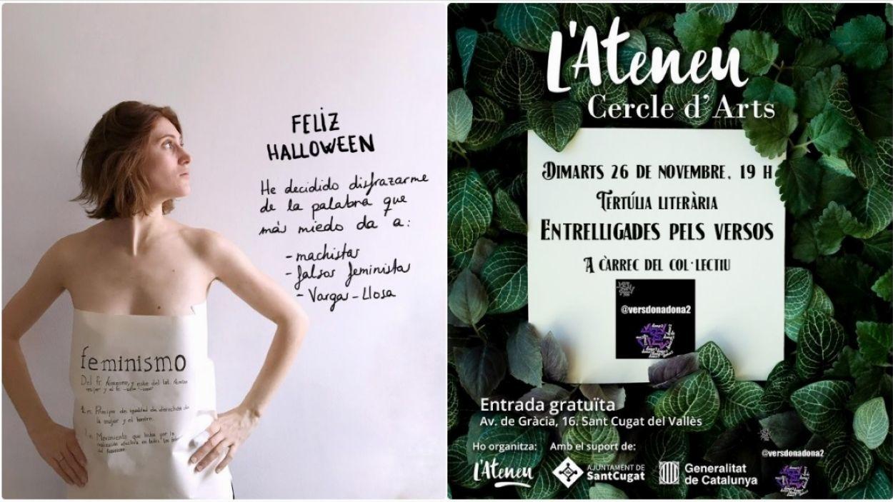 Adventícies presenta dos projectes de feminisme i xarxes socials / Foto: Cedida