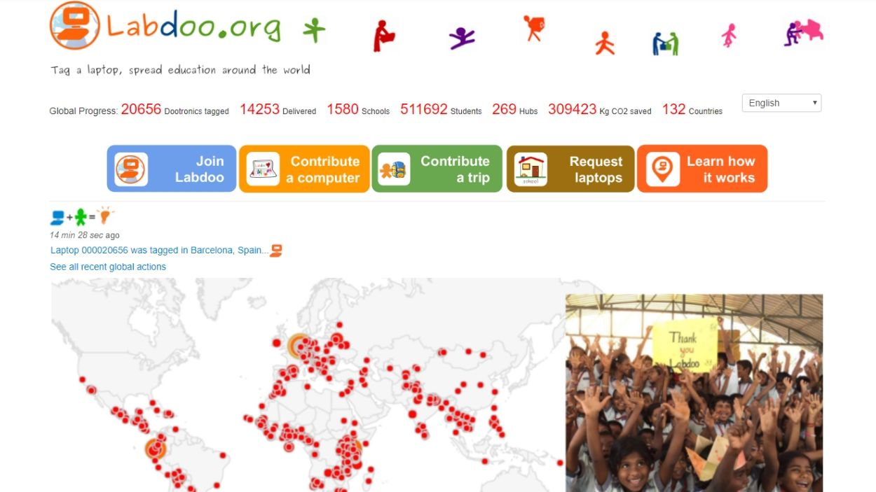 L'Ambiteca serà un punt de recollida de portàtils perquè arribin a les escoles més necessitades del món