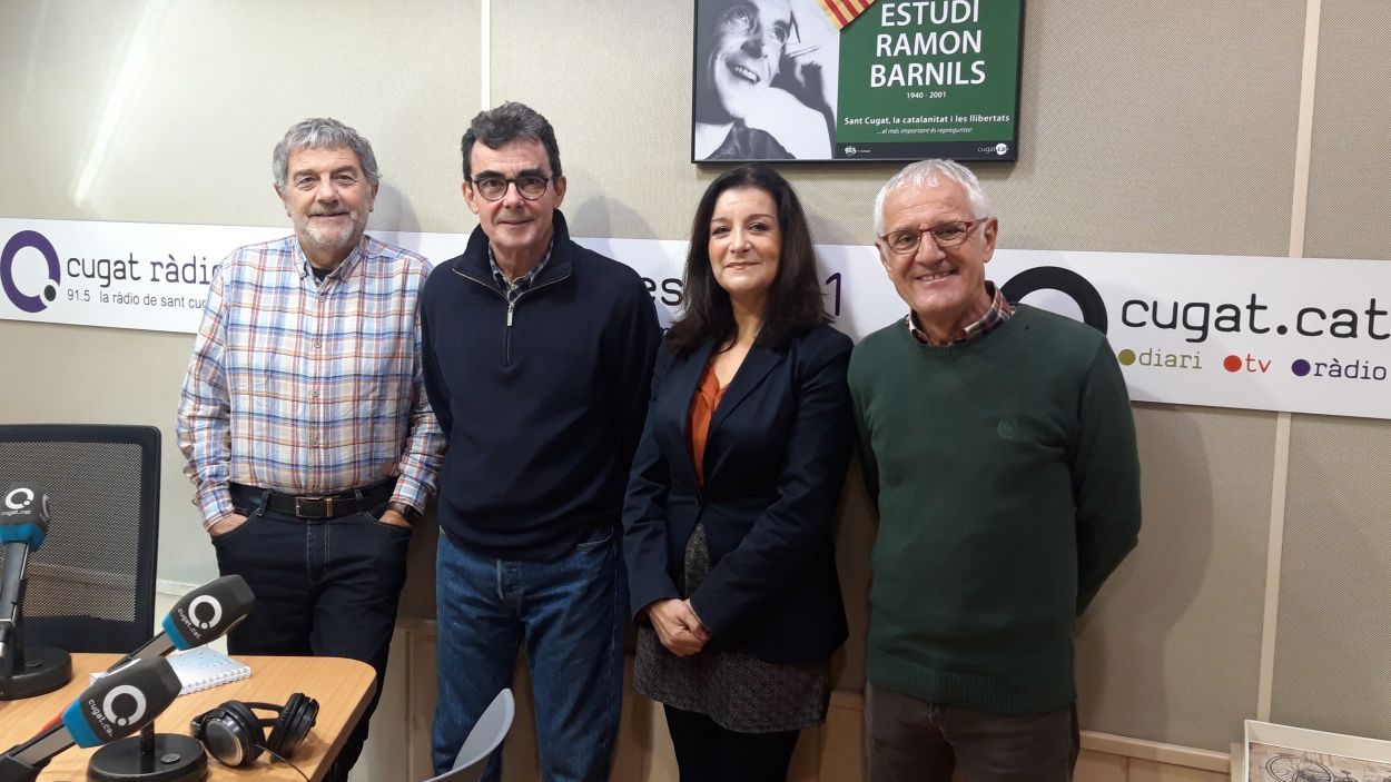 Àlvar Roda, Toni Samsó, Gemma Navarra i Rogeli Pedró / Foto: Cugat Mèdia