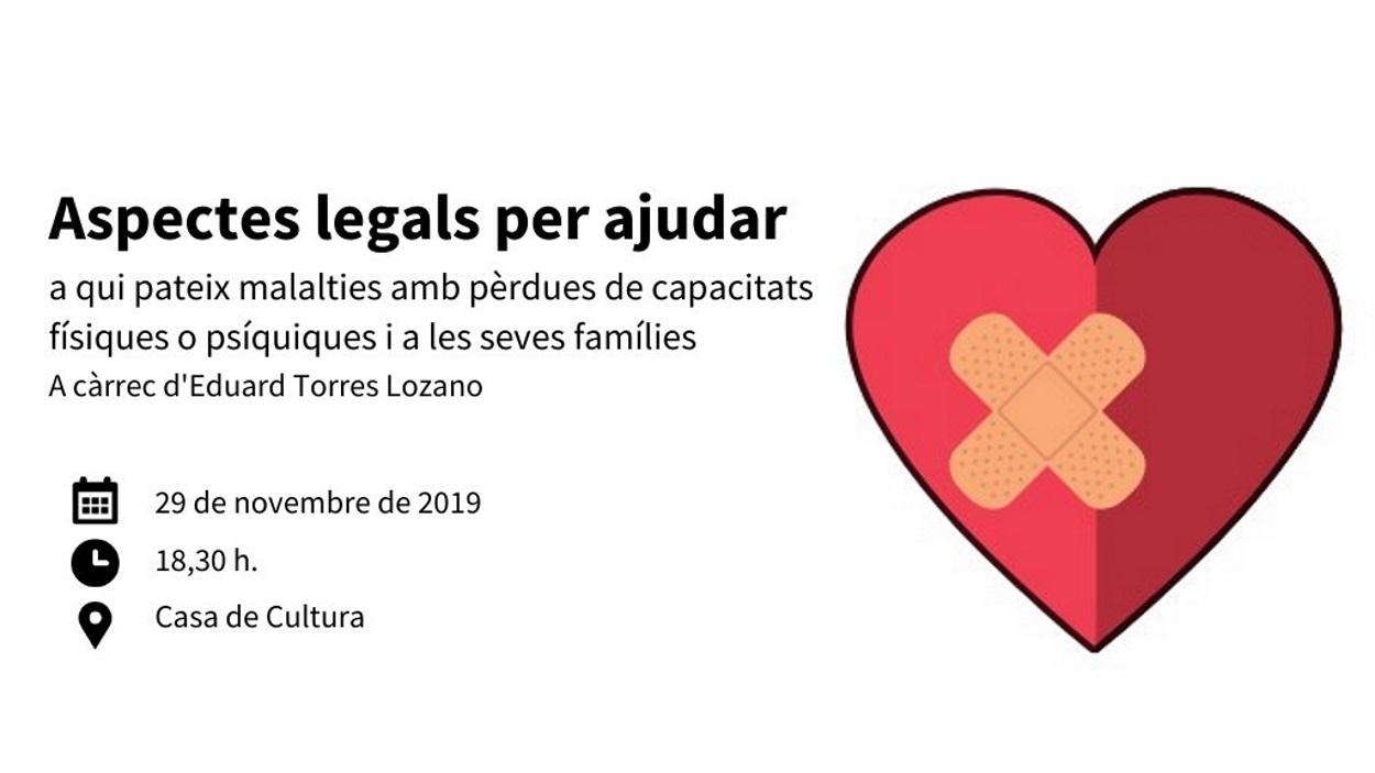 Conferència sobre els aspectes legals per ajudar a qui pateix malalties i a les seves famílies