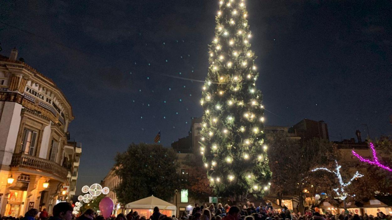 Les llums de Nadal ja s'han encès a Sant Cugat / Foto: Cugat Mèdia