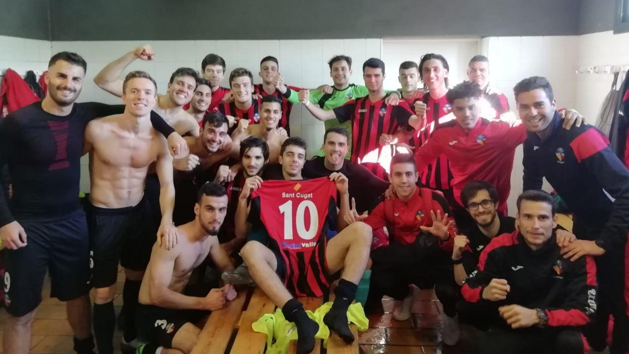 El SantCu continua amb una molt bona solidesa defensiva / Font: Sant Cugat FC